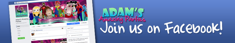 Adam's Amazing Parties Facebook Group Header