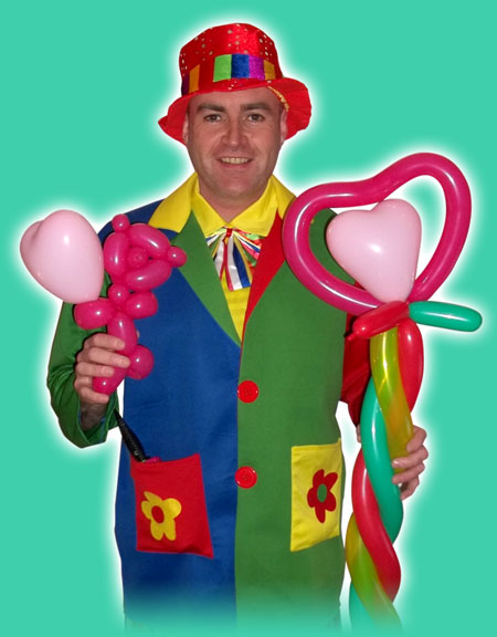 Balloon modelling clown for kids party