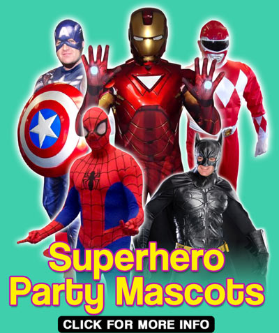 Superhero Party Mascots