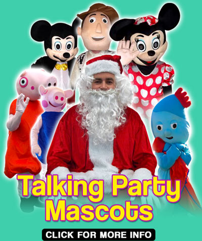 Talking Party Mascots